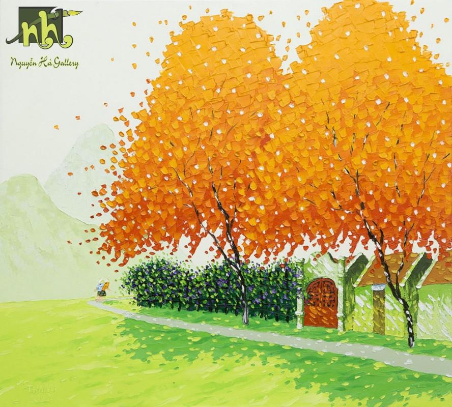 Tranh phong cảnh Phấn Trắng 11
